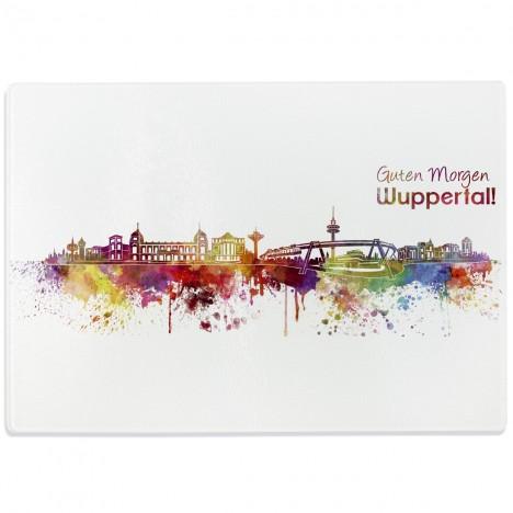 Glasschneidebrett Skyline Wuppertal