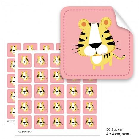 """Geschenktüten mit Aufklebern """"Tiger"""" - rosa"""