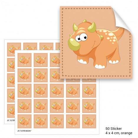 """Geschenktüten mit Aufklebern """"Triceratops"""" - orange"""