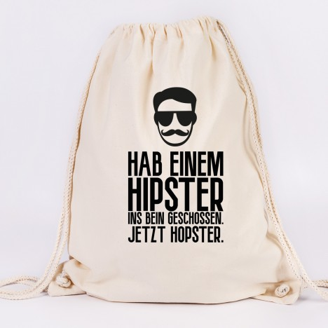 juniwords turnbeutel hipster hopster