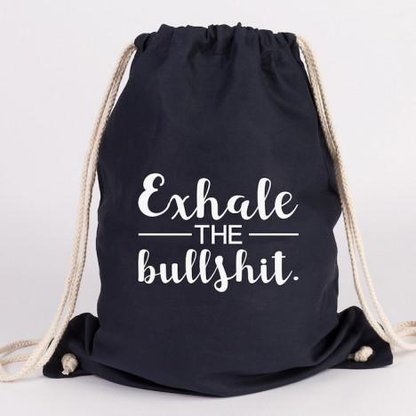 JUNIWORDS Turnbeutel exhale the bullshit