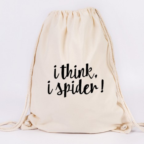 JUNIWORDS Turnbeutel I think I spider