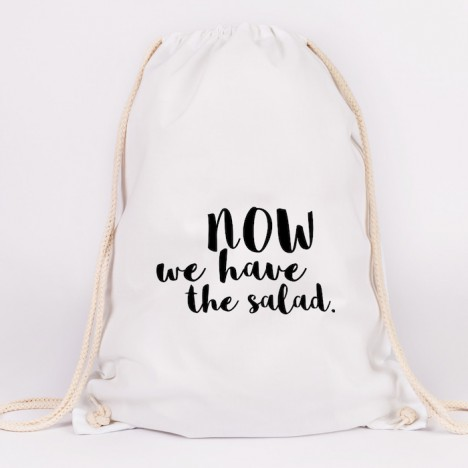 JUNIWORDS Turnbeutel Now we have the salad.