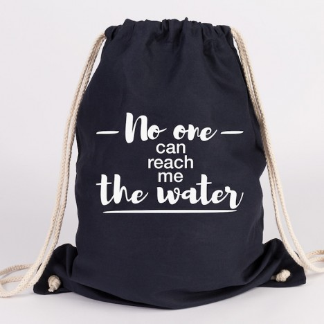 JUNIWORDS Turnbeutel No one can reach me the water
