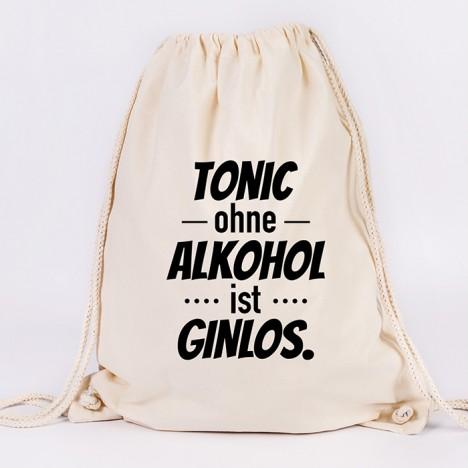 JUNIWORDS Turnbeutel Tonic ohne Alkohol ist Ginlos.