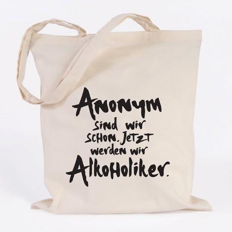 juniwords Jutebeutel Anonym sind wir schon. Jetzt werden wir Alkoholiker natur
