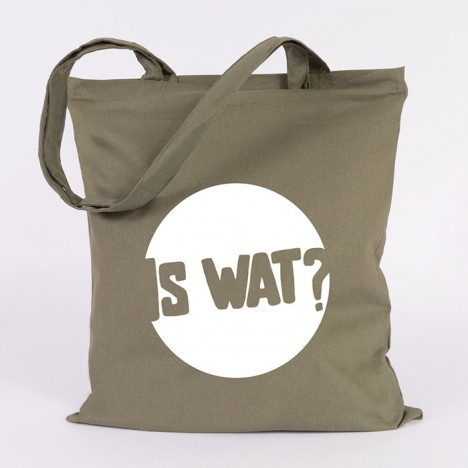 "JUNIWORDS Jutebeutel ""Is wat"". Khaki"