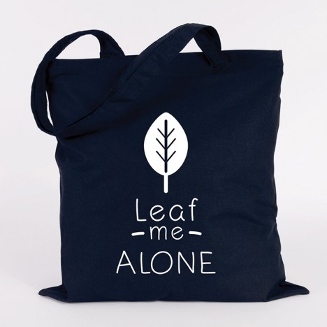 JUNIWORDS Jutebeute Leaf me alone. Marine Blau