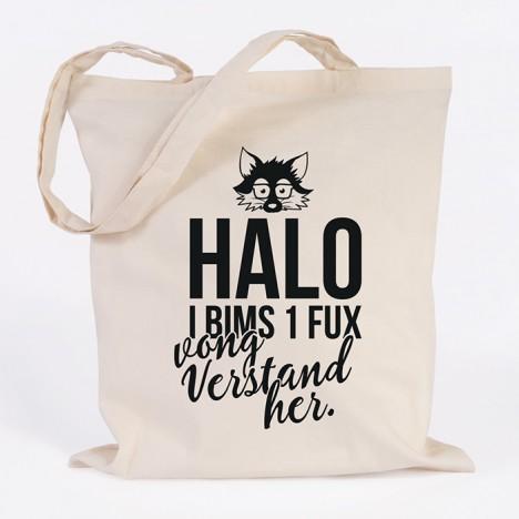 Jutebeutel Halo i bims 1 fux vong verstand her