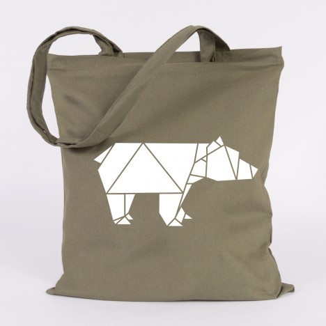 jutebeutel origami Bär