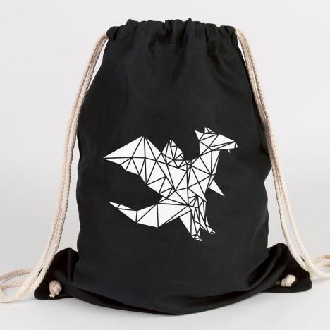 JUNIWORDS Turnbeutel Origami Drache