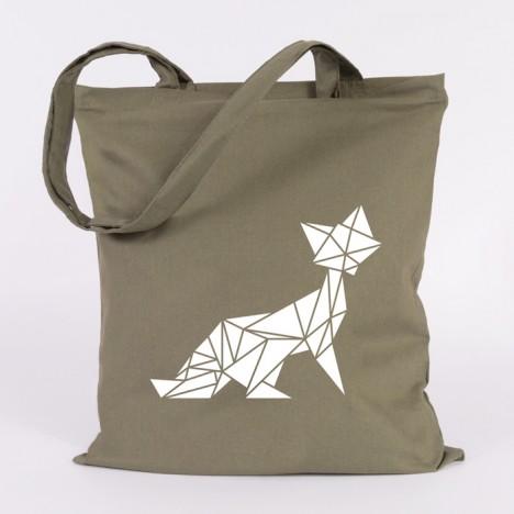 jutebeutel origami fuchs
