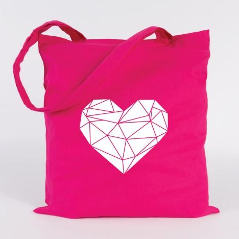 jutebeutel origami Herz