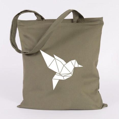 jutebeutel vogel origami