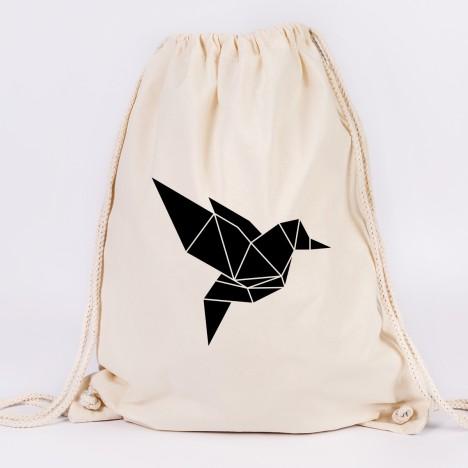 Origami Vogel Turnbeutel
