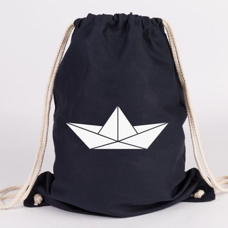Origami Papierboot Turnbeutel
