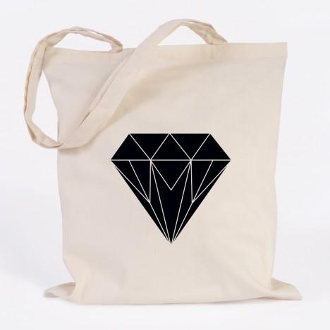 jutebeutel diamant origami