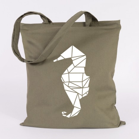 jutebeutel seepferdchen origami