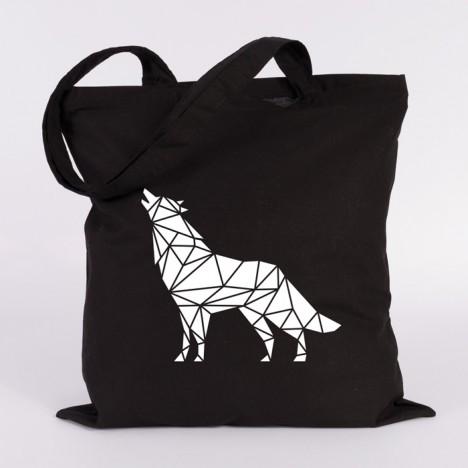 wolf jutebeutel origami