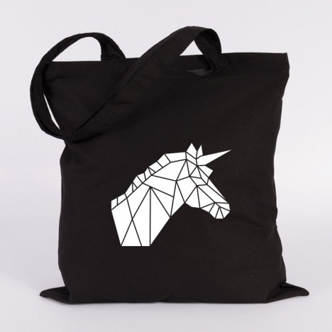 einhorn jutebeutel origami