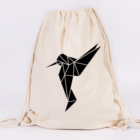 turnbeutel kolibri origami