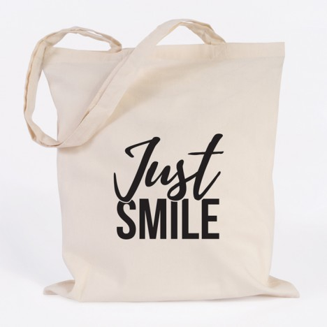 just smile jutebeutel
