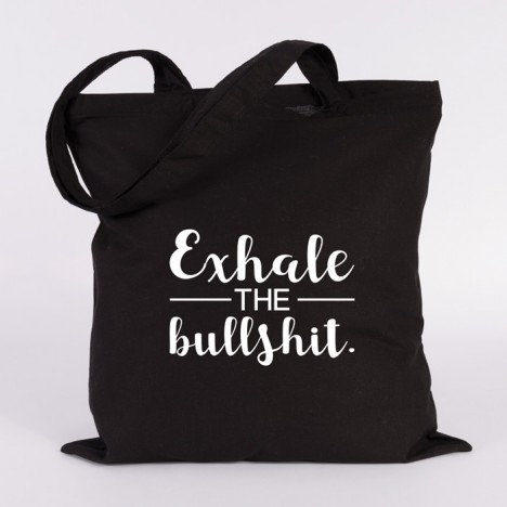 JUNIWORDS Jutebeutel Exhale the bullshit.
