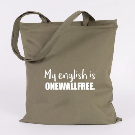 JUNIWORDS Jutebeutel My english is onewallfree.