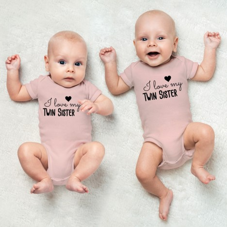 "JUNIWORDS Babybodies ""I love my twin sister"" 