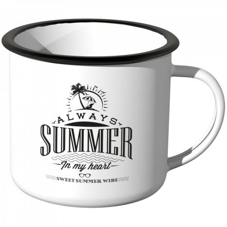 Emaille Tasse Always Summer