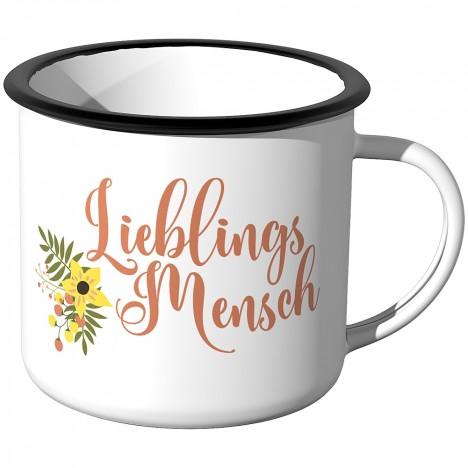 Emaille Tasse Lieblingsmensch - Motiv 2