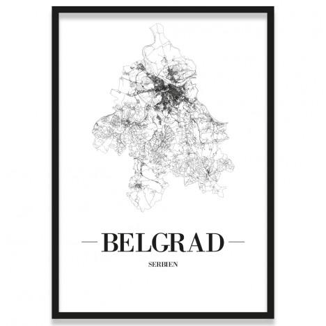Belgrad Stadtposter mit Bilderrahmen
