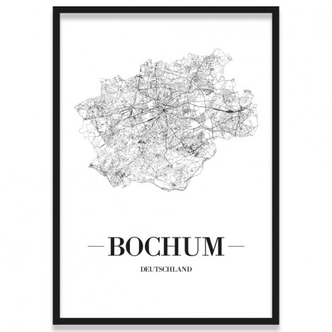 Poster Bochum mit Bilderrahmen