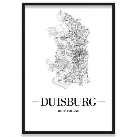 Poster Duisburg mit Bilderrahmen