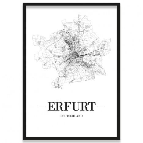 Poster Erfurt mit Bilderrahmen