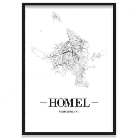 Poster Homel mit Rahmen