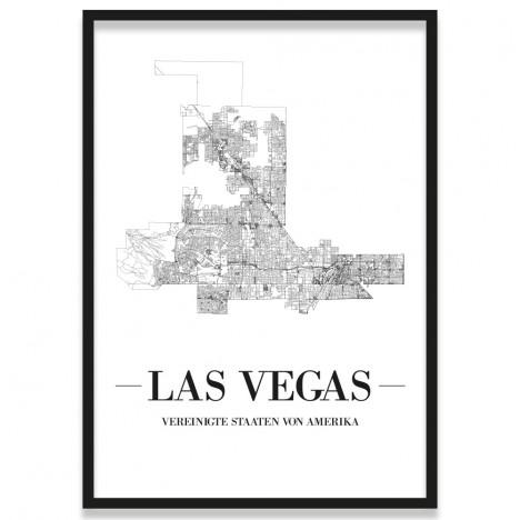 Poster Las Vegas mit Bilderrahmen
