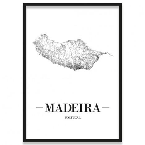 Poster Madeira Straßen