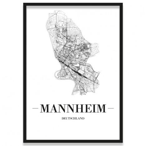 Stadtposter Mannheim gerahmt