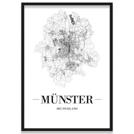 Stadtposter Münster Bilderrahmen