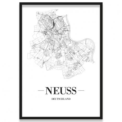Stadtposter Neuss mit Bilderrahmen