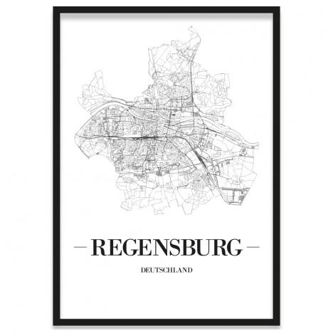 Stadtposter Regensburg Rahmen