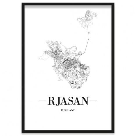 Stadtposter Rjasan Rahmen