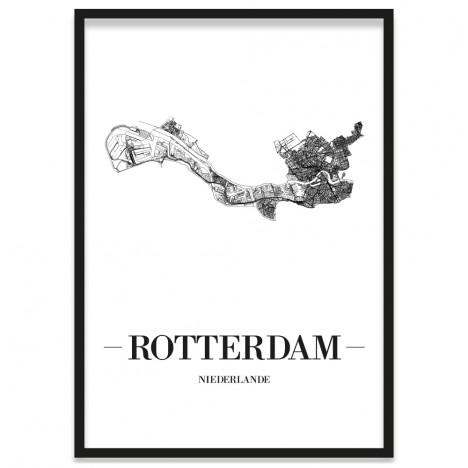 Stadtposter Rotterdam im Bilderrahmen
