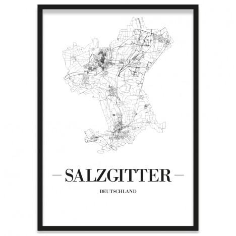 Stadtposter Salzgitter mit Bilderrahmen