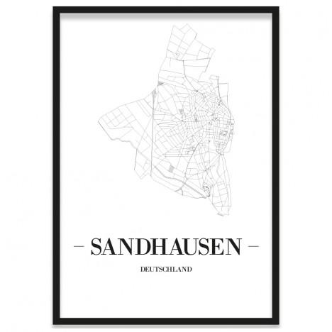 Stadtposter Sandhausen Rahmen