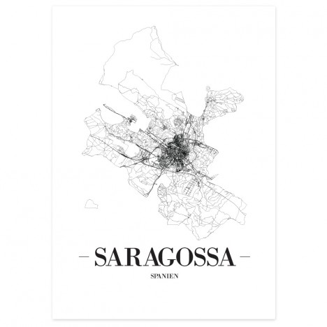 Stadtposter Saragossa