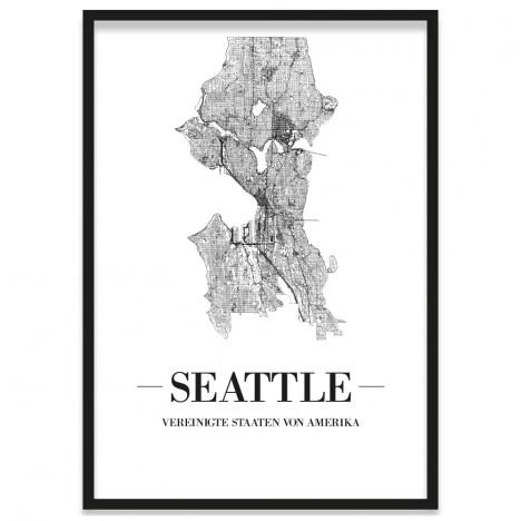Stadtposter Seattle