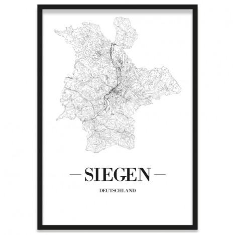 Stadtposter Siegen mit Bilderrahmen