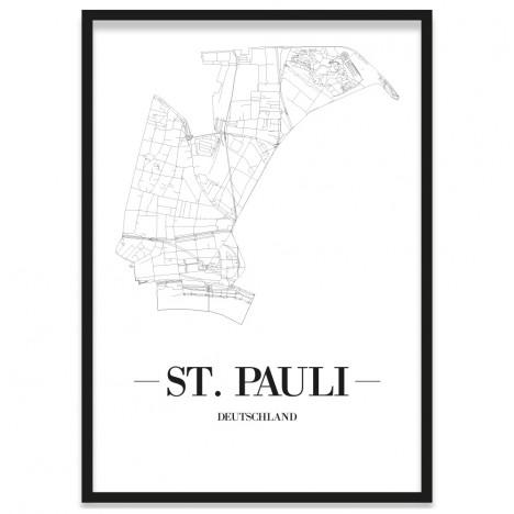 St. Pauli Poster gerahmt